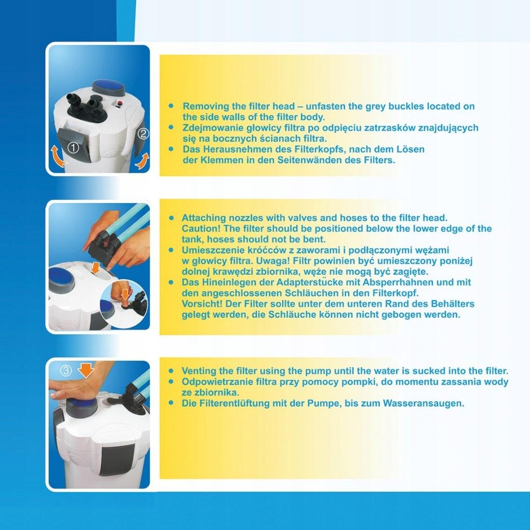 Фильтр для аквариума внешний CLARON 01 потребляемая мощность 18 Вт