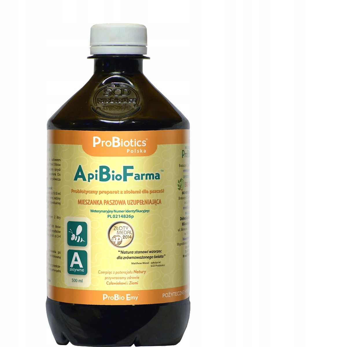 SUPER Probiotyk WZMACNIA pszczoły ApiBioFarma 0,5L