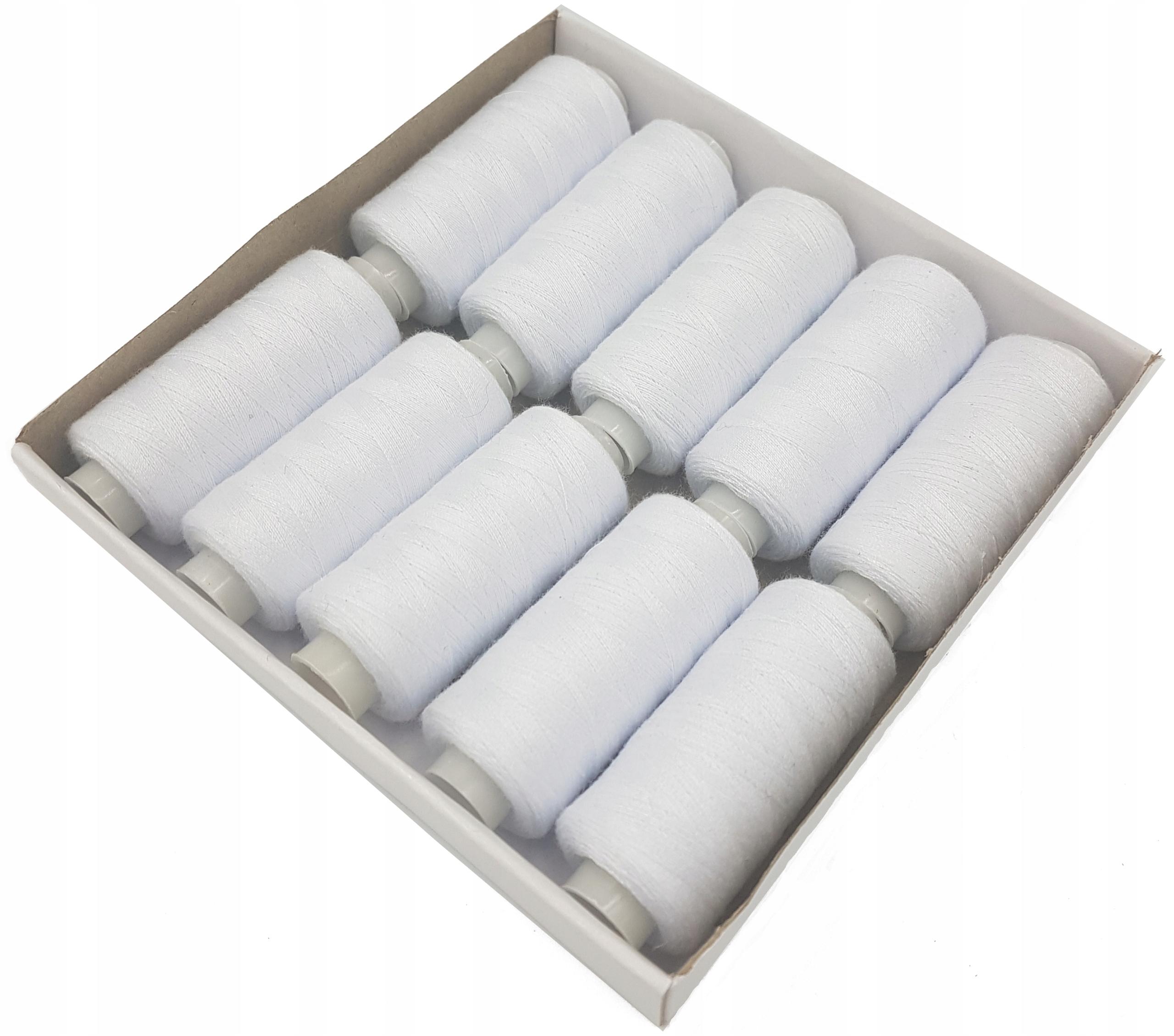 МАШИНЫ 10 ниток для машинного шитья белые
