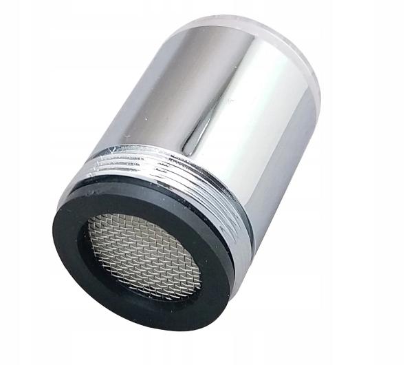 Perlator LED. Eko nakładka. Kolorowo świecący kran
