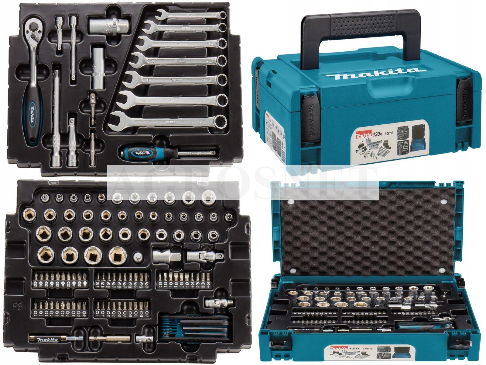 Zestaw 120 narzędzi Makita w walizce Makpac Typ 1