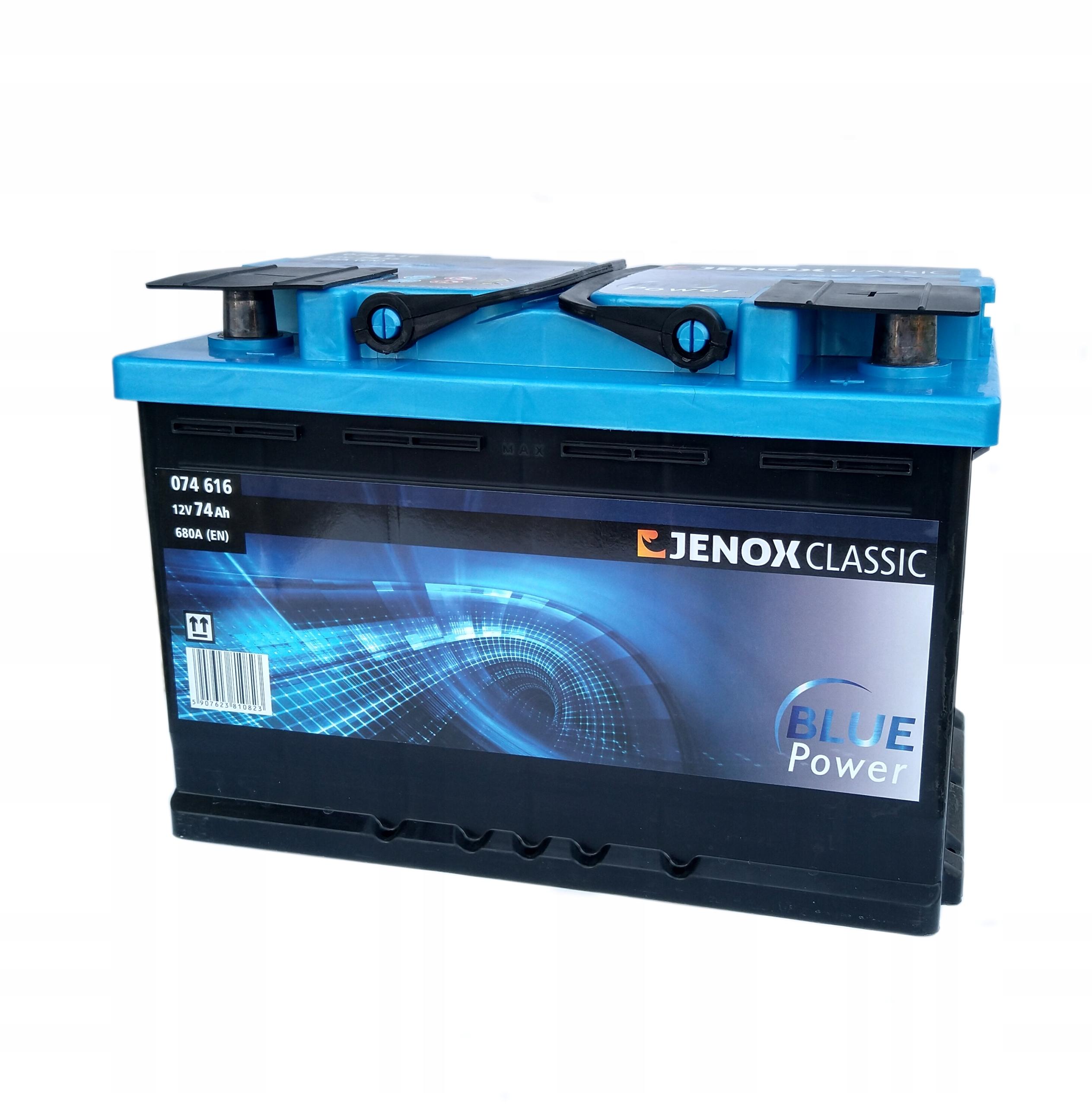 аккумулятор 12v 74ah 680a jenox classic
