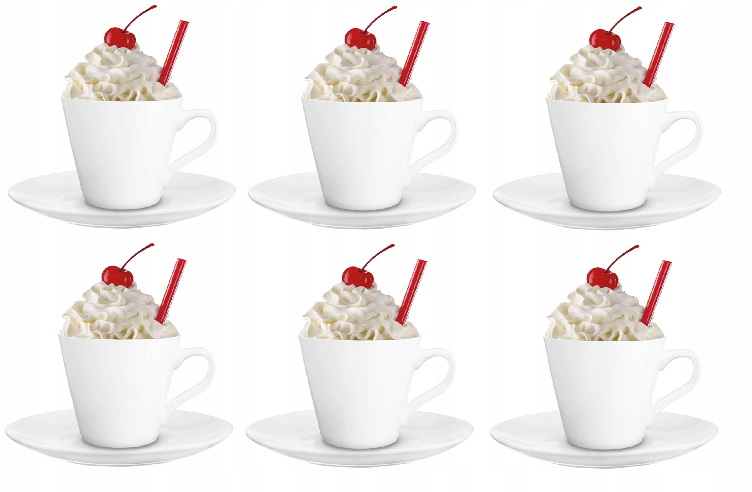 Чайные чашки + блюдца 230 мл 12el low