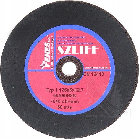 Brúsne koleso 125x6x12.7 Pre páskové píly Fenes Shield