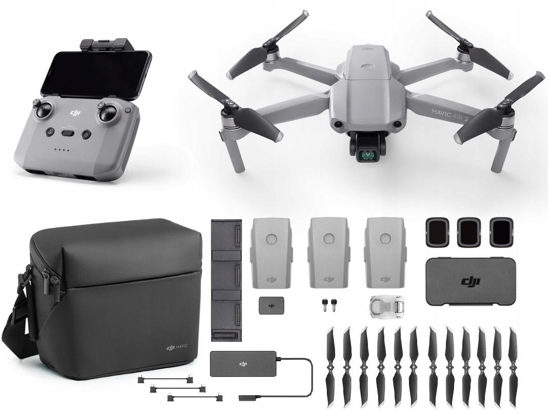Dron DJI Mavic Air 2 Fly More Combo Akcesoria 12MP