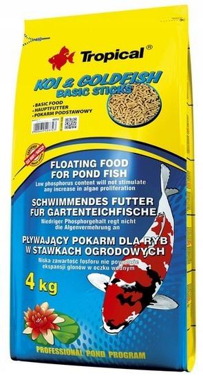 Tropical Koi & Rybka Základné Palice taška 4 kg