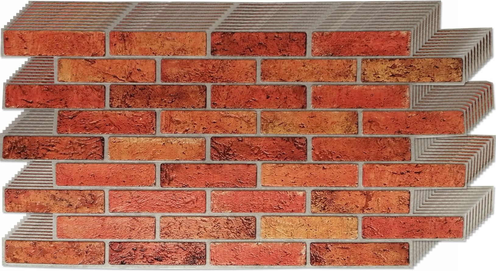3D stenové panely PVC retro tehlová tehla 10 ks.
