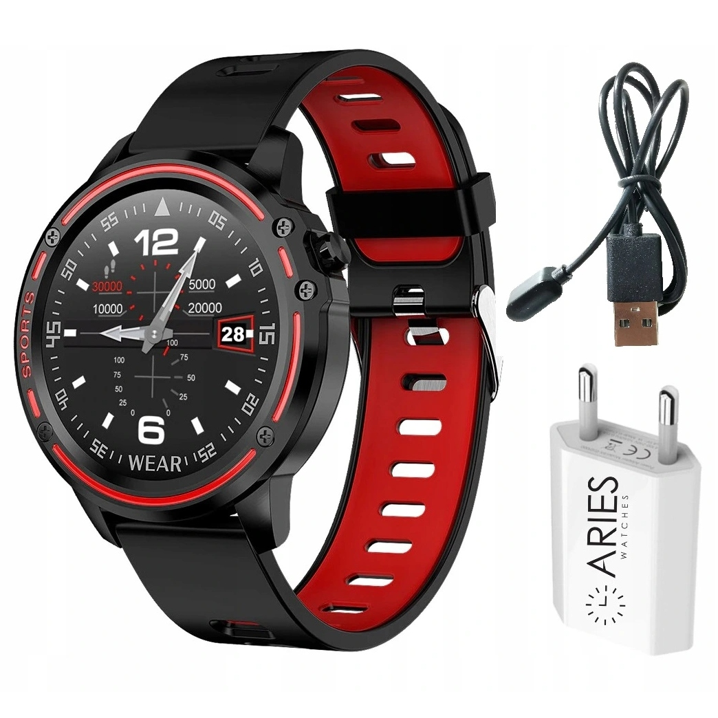 Zegarek SmartWatch EKG Ciśnieniomierz POLSKIE MENU