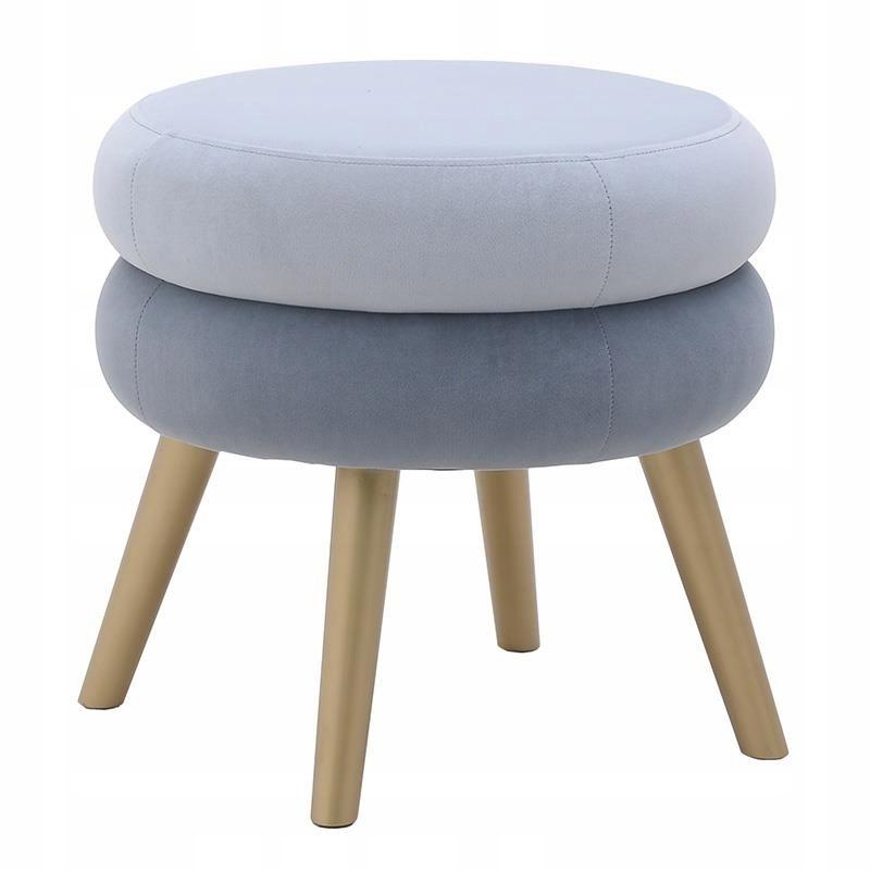 24h PUF taburetová stolička retro taburetka nádherná modrá