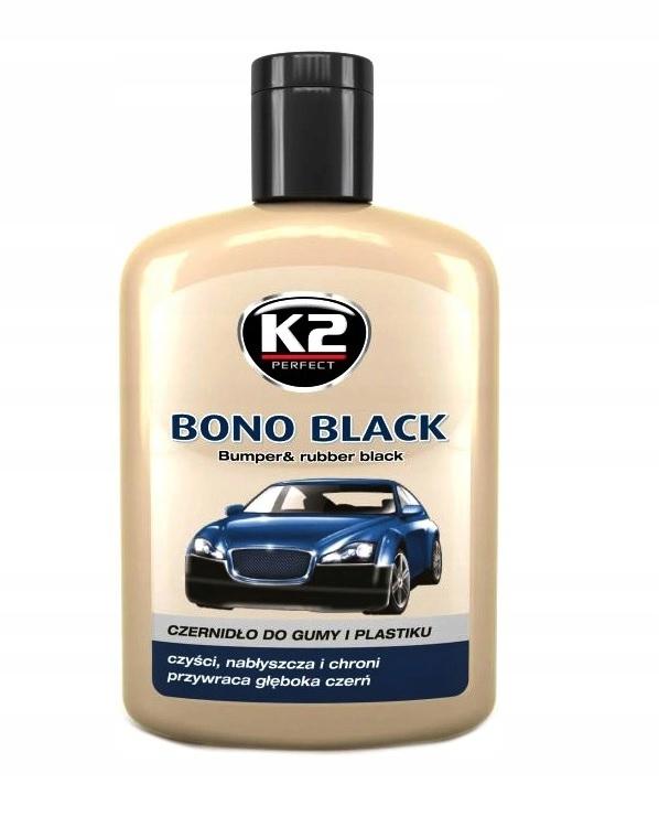 K2 BONO BLACK 200 ML Czernidło do gumy i plastiku