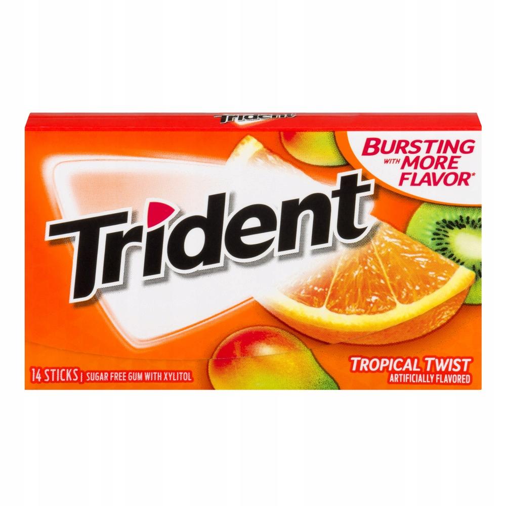 Резина Trident Tropical Twist, 12 шт.