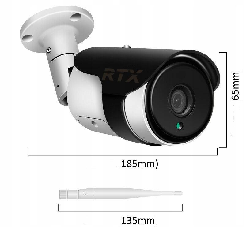 Kamera RTX SmartCam Zewnętrzna Tuya Alexa Google Zasilanie sieciowe