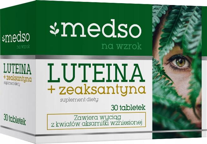 Luteina + Zeaksantyna witamina C wzrok oczy 30tab