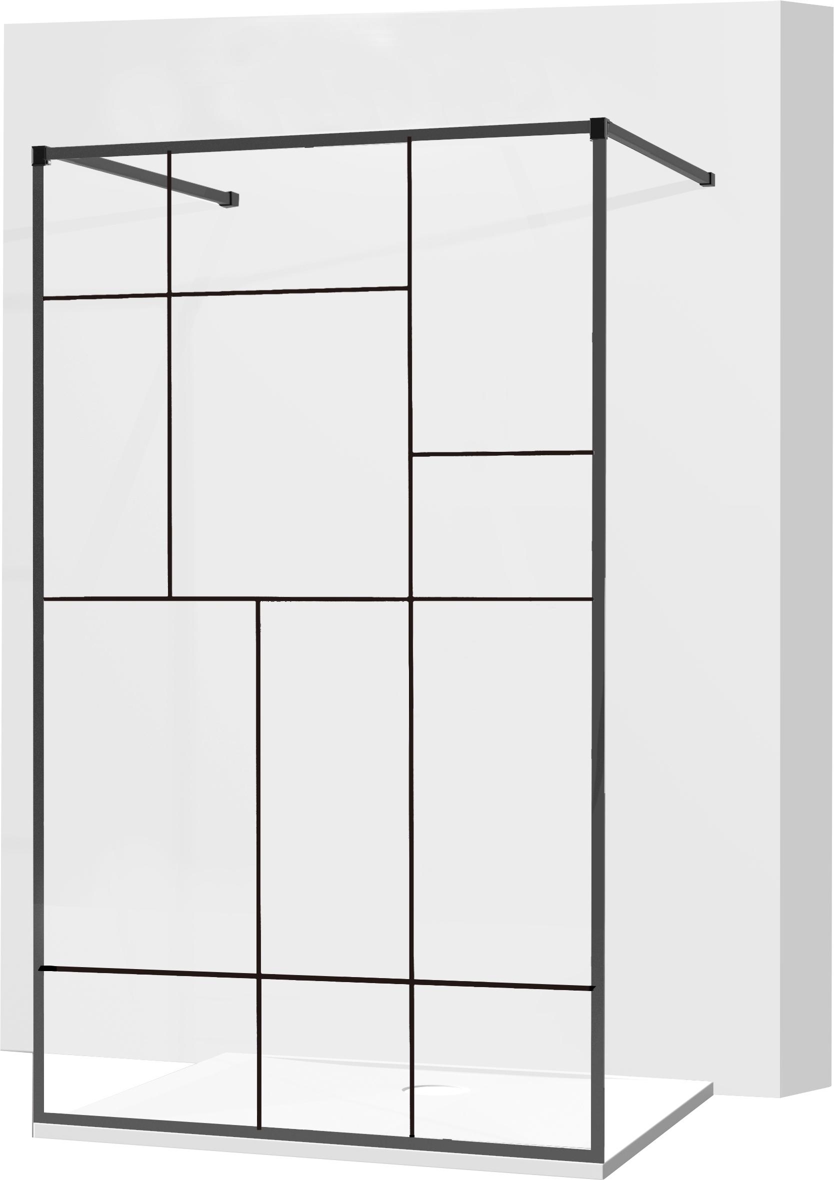 MEXEN KIOTO SPRCHOVÁ STENA 140x200 8mm sklo