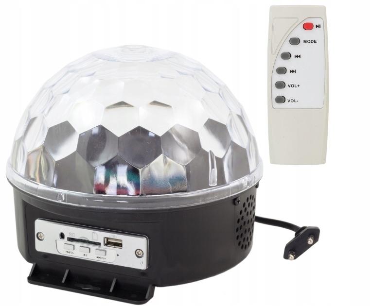 Disco Kula Colorophone na Andrzejki MP3 + CZ-WA Diaľkové ovládanie