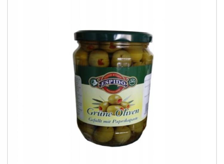 Зеленые оливки с перцем Греческий Эспидо 700г