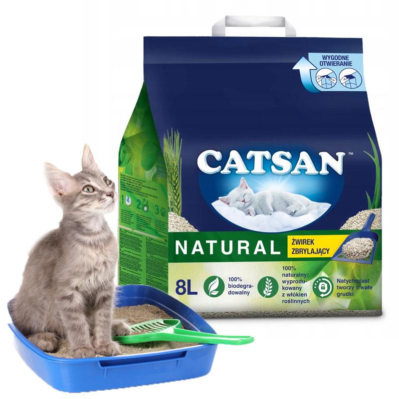CATSAN Natural Żwirek BENTONITOWY Zbrylający 8L EAN 4008429117138