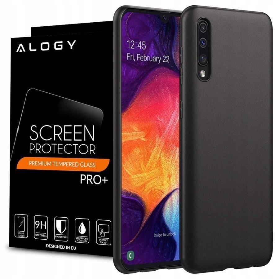 Etui Matowe Alogy Do Galaxy A30/A50/A50S + Szkło