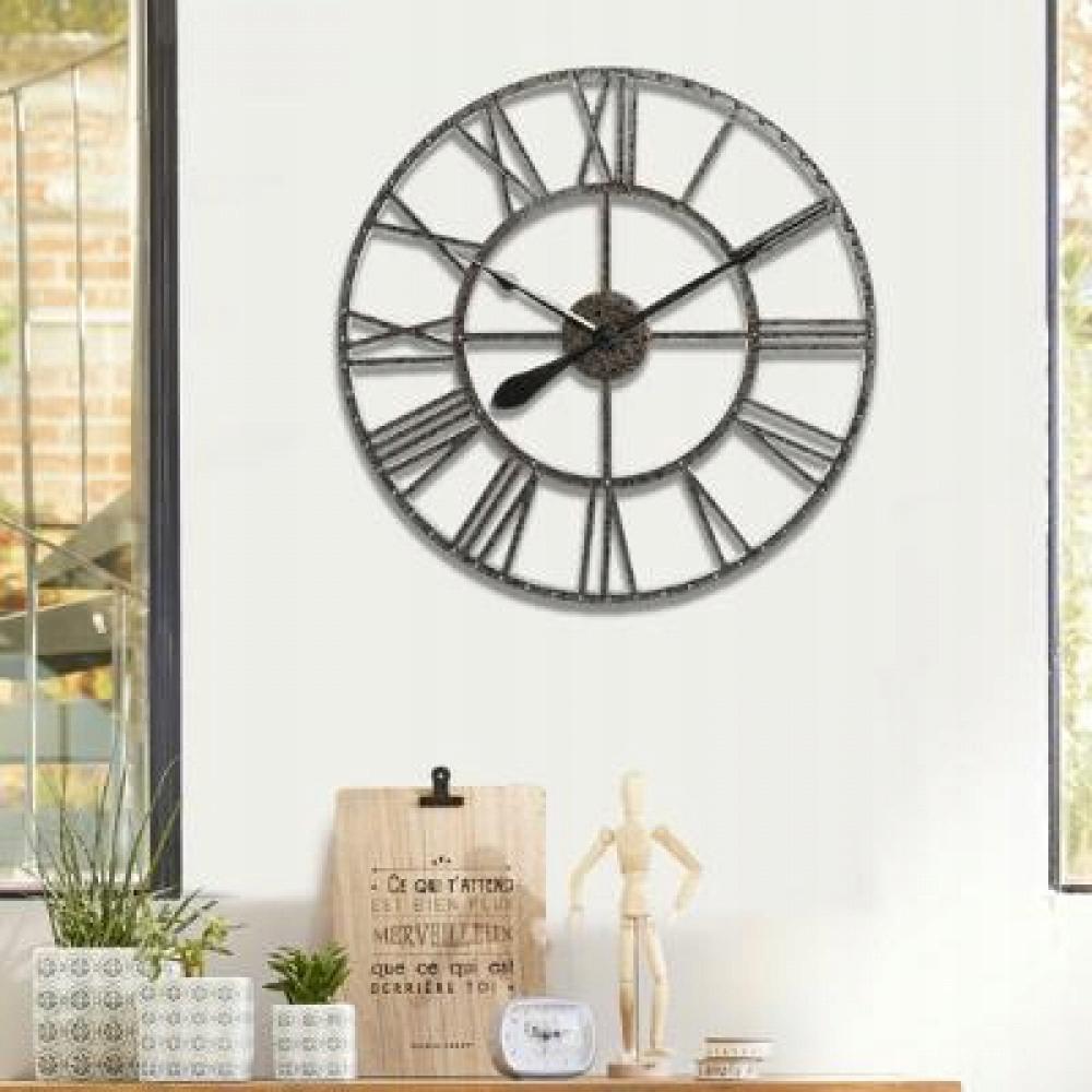 Kovové nástenné hodiny veľké retro loftové kovové XL