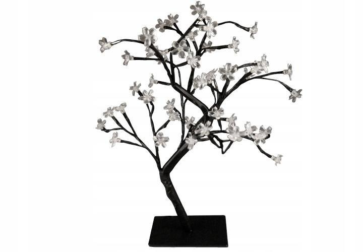 48 LED svetelný stromček, studená biela, kvet bonsai