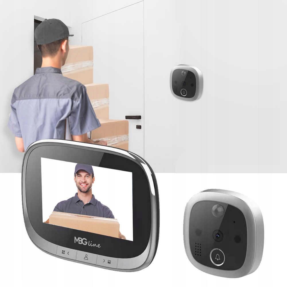 WIZJER LCD ZDJĘCIA DZWONEK JUDASZ CZUJNIK RUCHU HD Średnica otworu 14 mm
