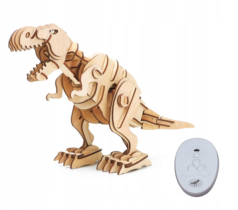 T Rex  zdalnie sterowane drewniane puzzle 3D