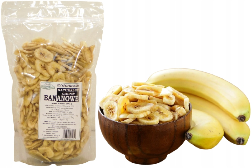 NZ-BANANA CHIPS Сушеные бананы 0,5 кг