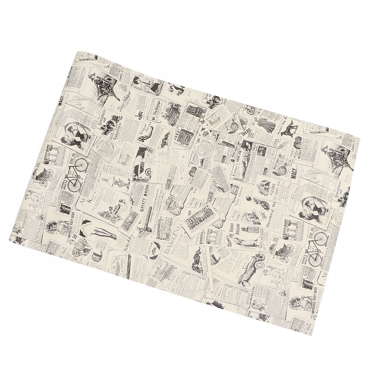 Vďaka retro tapetám v novinových PVC tapetách sa budete lepiť