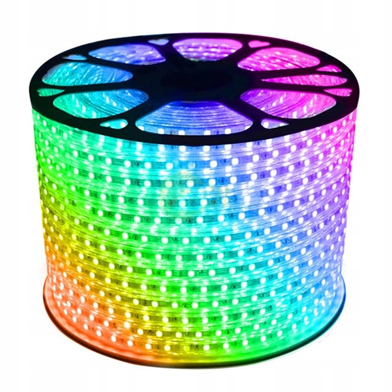 WĄŻ TAŚMA LED RGB 230V BEZ ZASILACZA 5050 16 Kolor