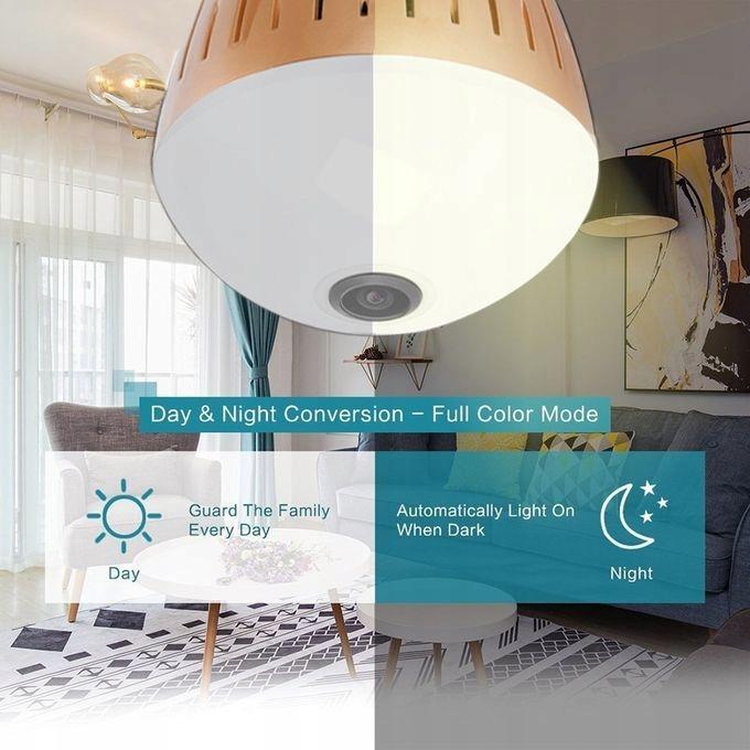 Kamera WiFi monitoring 360 Żarówka LED audio 1080P Kod producenta 2020