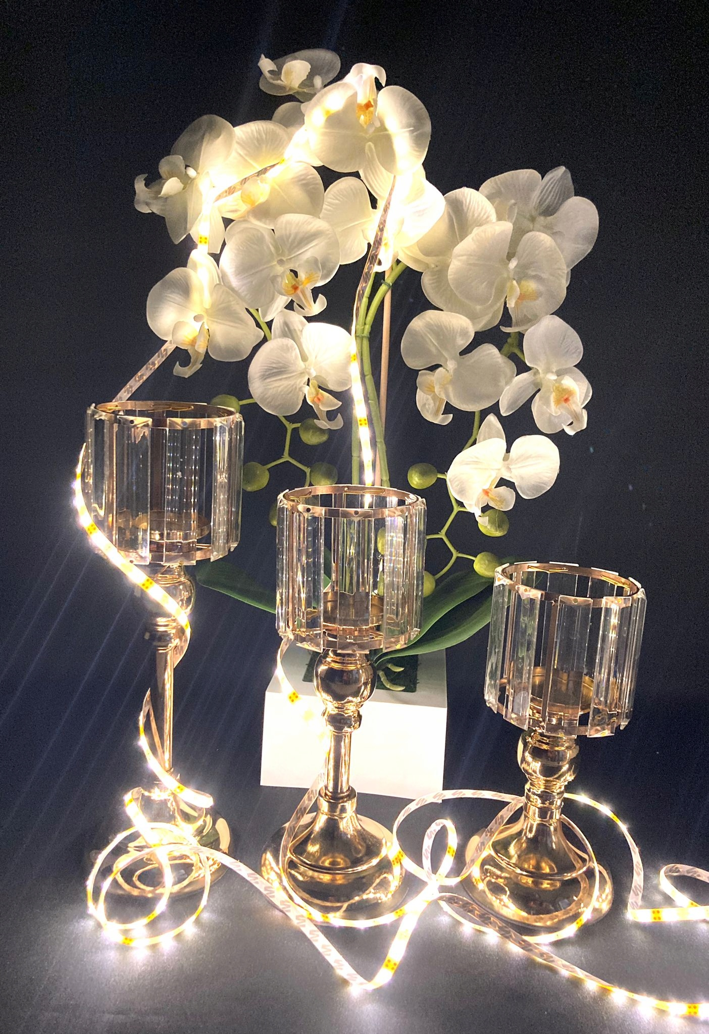 Металлический подсвечник MODERN DESIGN LAMPION 32см
