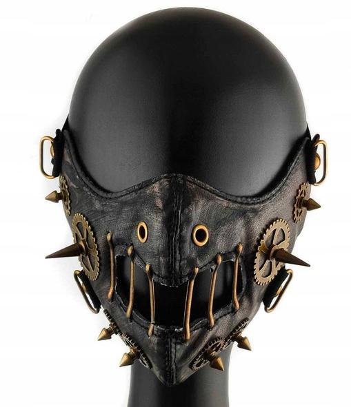 Gotická retro kožená maska na zuby