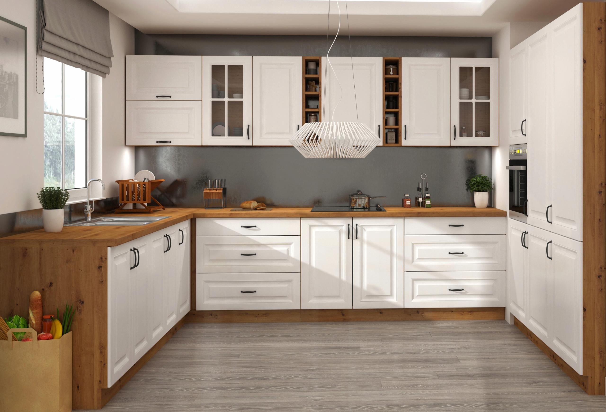 Zestaw mebli kuchennych szafki szuflady Style I