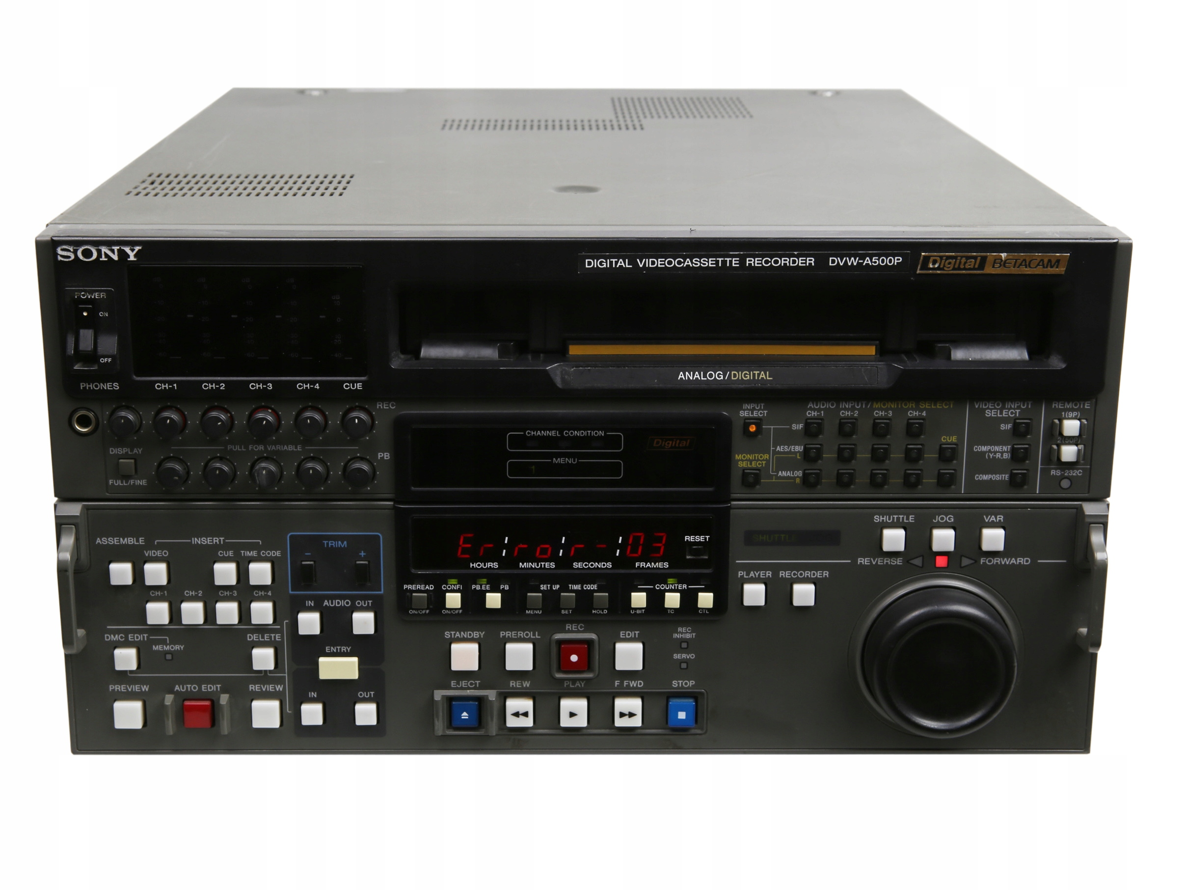 Item Sony DVW-A500P Digital Videocassette Recorder Beta