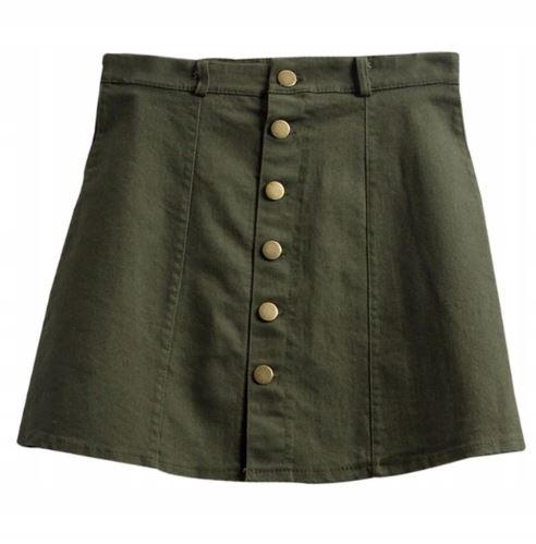 Denim sukne s tlačidlami vintage A-line S