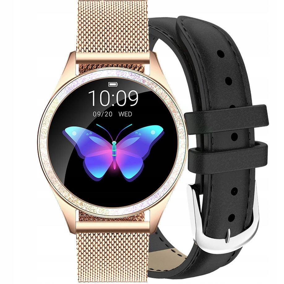 Zegarek Gino Rossi Smartwatch złoty + czarny pasek