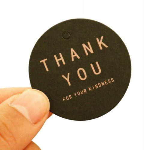 Этикетка картонная со шнурком Спасибо 100 шт.