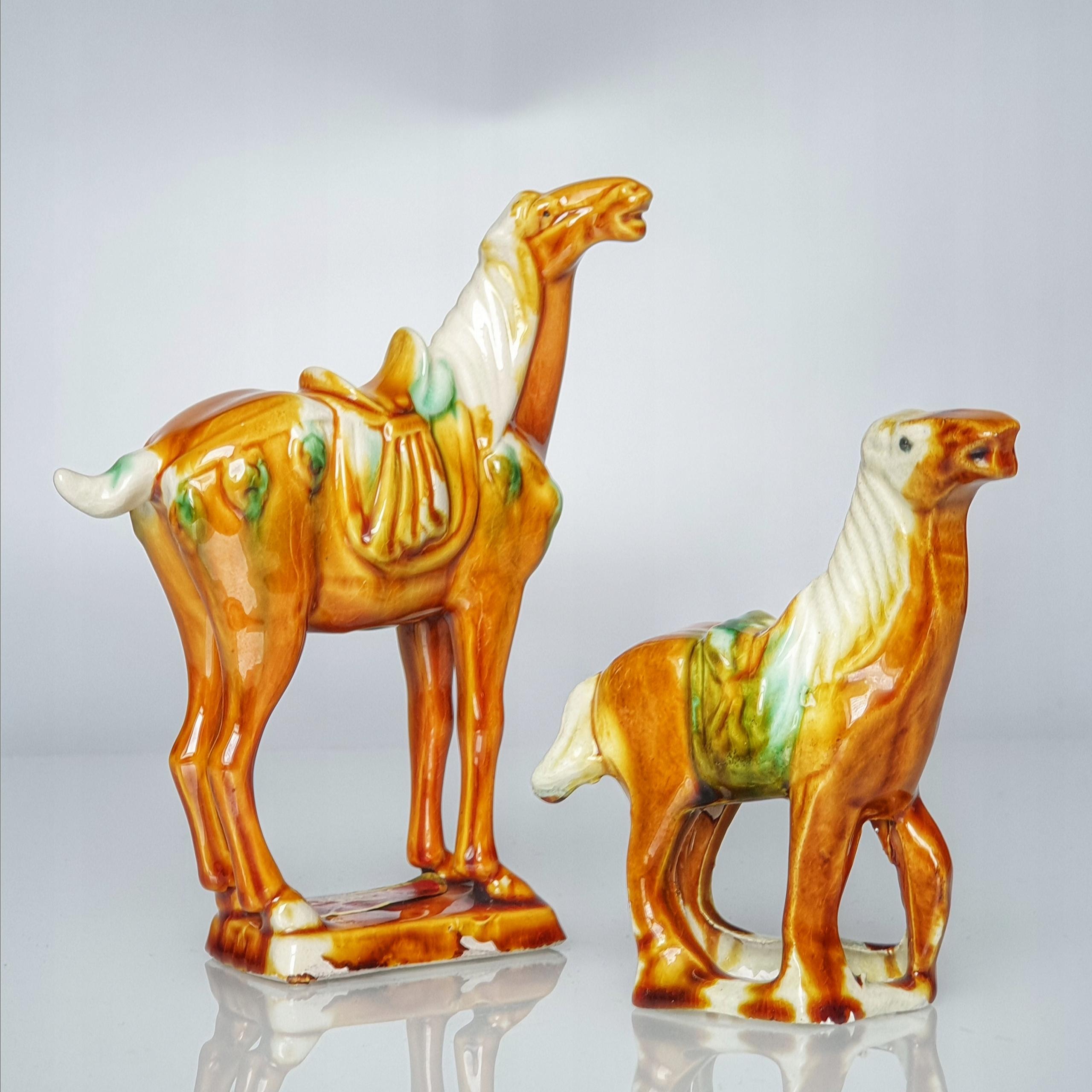 Figurka koń konik Tang Sancai ceramika Chiny