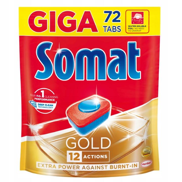Somat Таблетки для Посудомоечной машины Gold, 72 шт