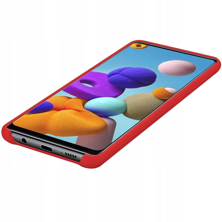 Etui do Samsung Galaxy A21S Case Silicone + Szkło Producent KrainaGSM