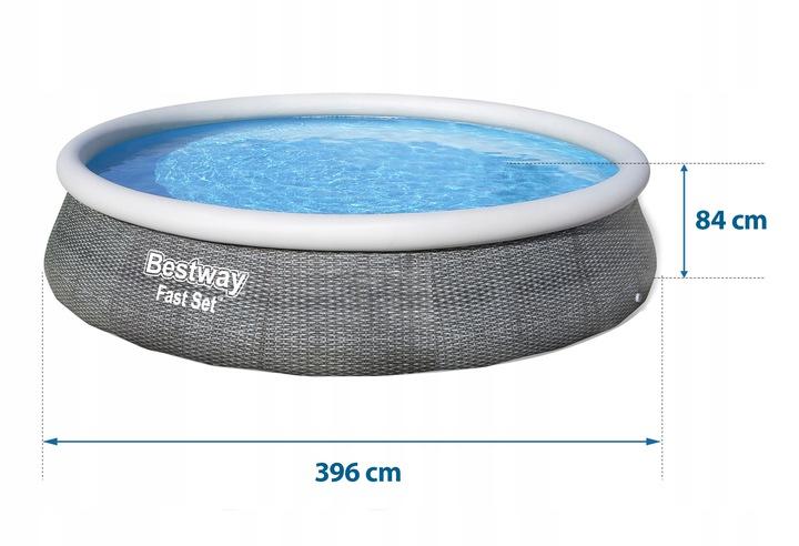 BASEN ROZPOROWY 396x84 BESTWAY 16w1 57376 Waga produktu z opakowaniem jednostkowym 18.7 kg