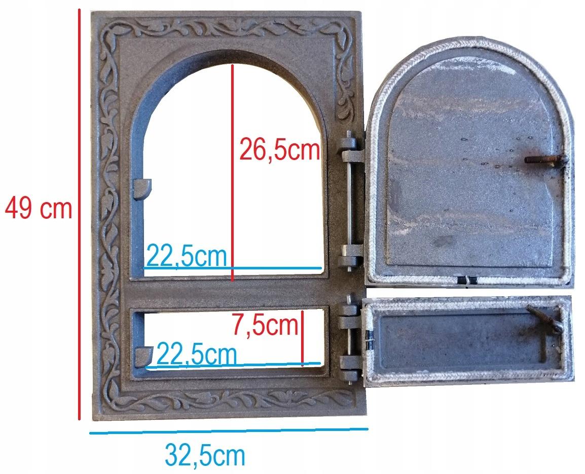 dvere z liatinovej pece 49x32,5 cm na kachle Kód produktu OBDĺžnikové HERMETICKÉ DVERE NA LIŠTA