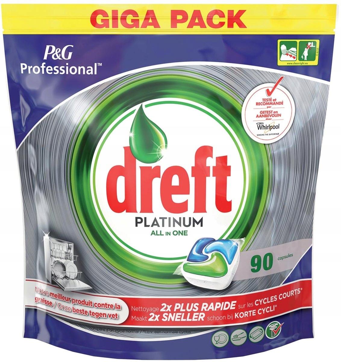 Dreft Fairy Platinum таблетки для посудомоечной машины 90 шт