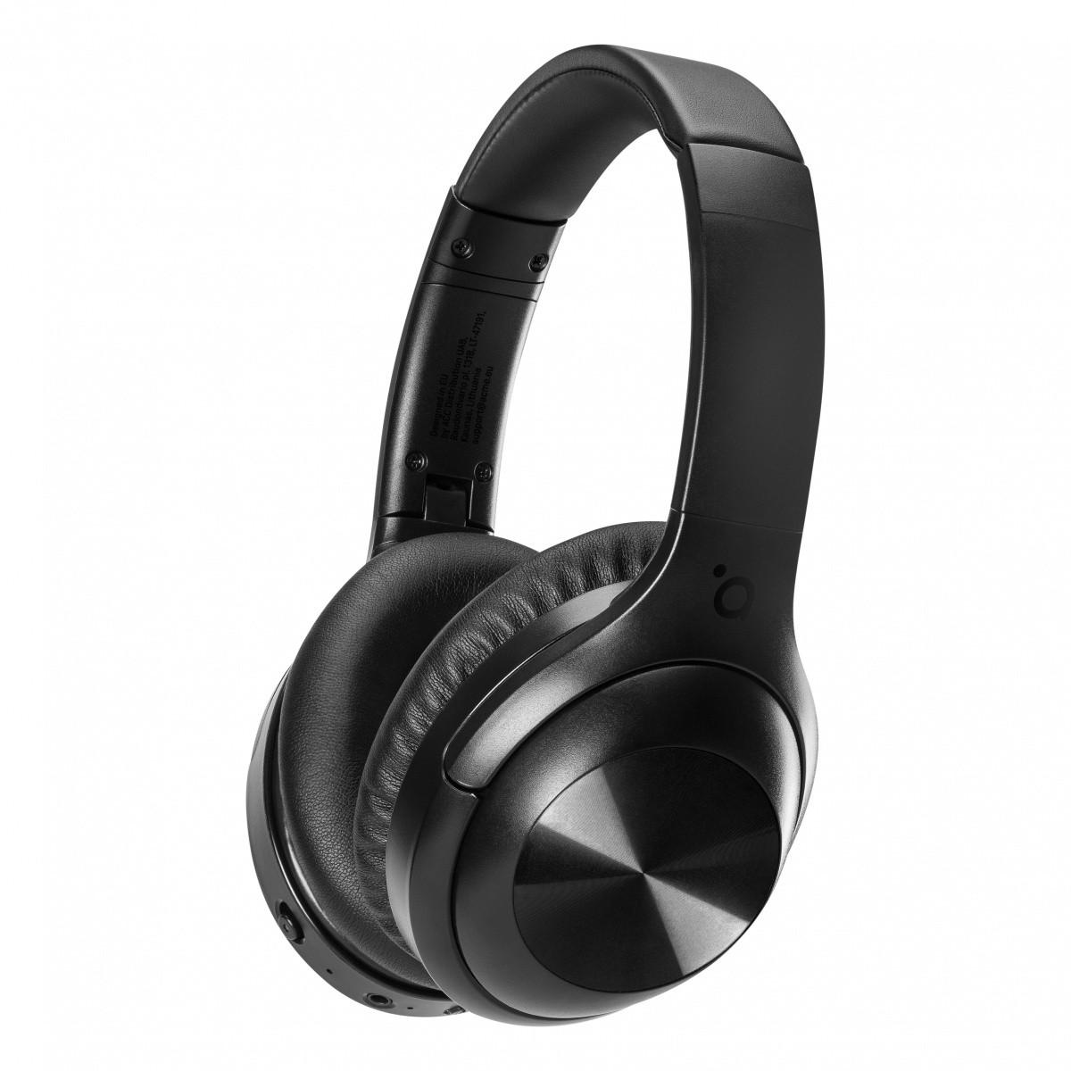 Słuchawki z mikrofonem Bluetooth nauszne ANC (z)
