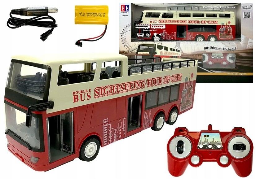 Diaľkovo ovládaný dvojpodlažný autobus R / C 2,4 G 1:18