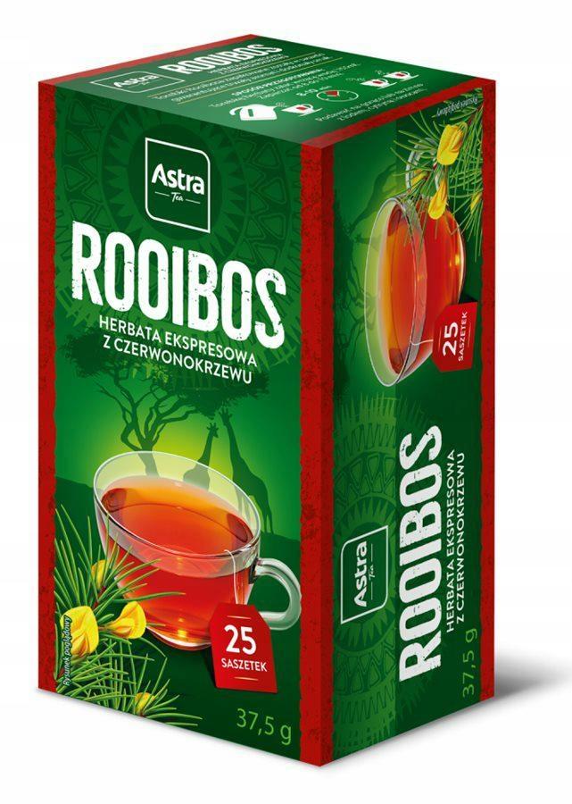 ASTRA Herbata ekspresowa ROOIBOS 25torebek