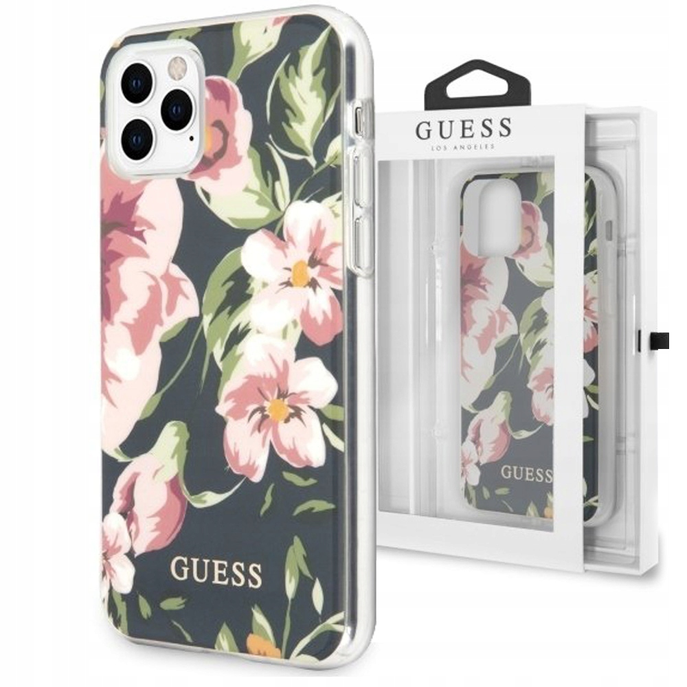 Etui do iPhone 11 Pro Max, Guess Flower N3, case
