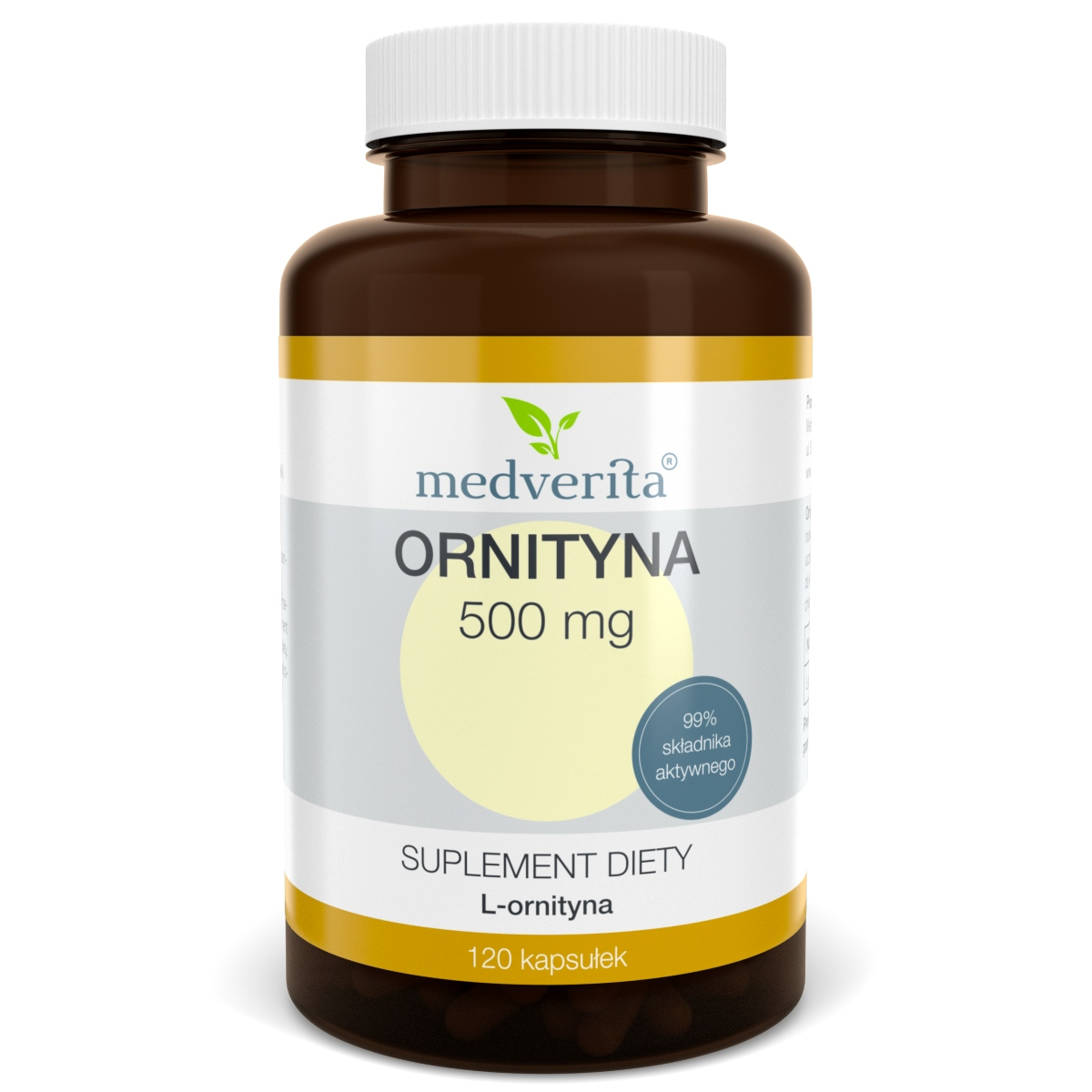 ORNITYNA 500 mg L-ornityna HCL - 120 kapsułek