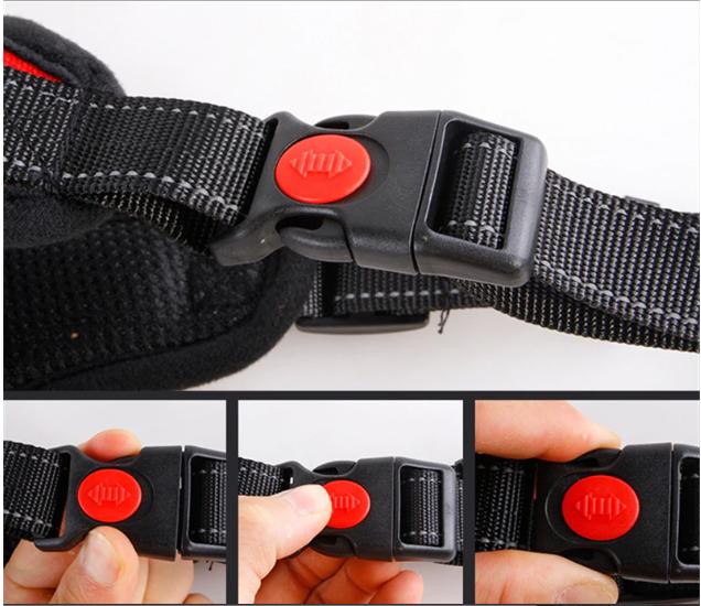 MOCNE SZELKI DLA PSA lekkie bezuciskowe XL 74-94cm Kolor czarny odcienie czerwieni wielokolorowy inny