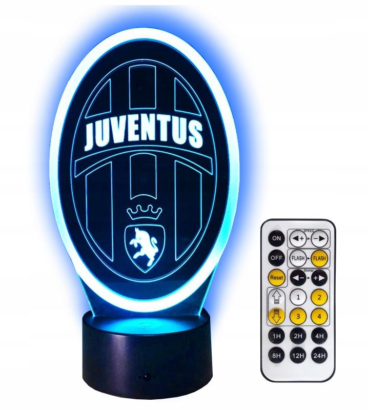JUVENTUS LAMPKA ночьNA 3D LED Подарок + PILOT